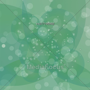 Circle Green Light Background. Round Green Wave Pattern Stock Photo