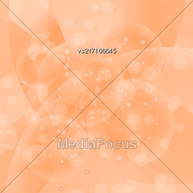 Circle Orange Light Background. Round Wave Pattern Stock Photo