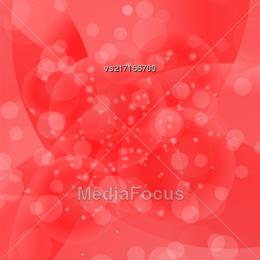 Circle Red Light Background. Round Red Wave Pattern Stock Photo
