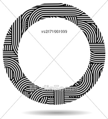 Circle Striped Frame Isolated On White Background Stock Photo