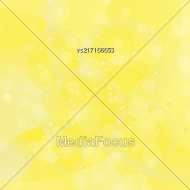 Circle Yellow Light Background. Round Yellow Wave Pattern Stock Photo