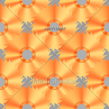 Circular Saw Steel Disc Seamless Pattern On Grey Background Stock Photo