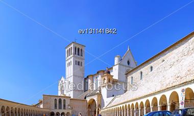 City Cview Of Assisi. Umbria Region . Italy Stock Photo