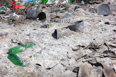 City Dump: The Demonstration Of Environmental Problems Stock Photo