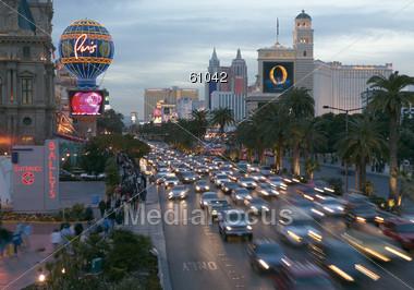 City Traffic, Las Vegas, USA Stock Photo