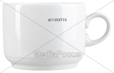 Clean Cup Of Modern-design. Isolated On White Background. Close-up. Studio Photography Stock Photo