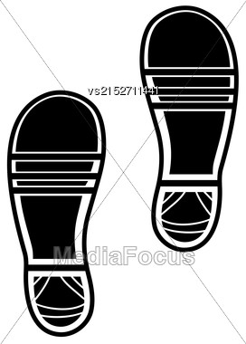 Clean Shoe Imprints Isolated On White Background Stock Photo
