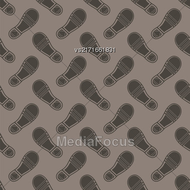 Clean Shoe Imprints Seamless Pattern Isolated On Grey Background Stock Photo