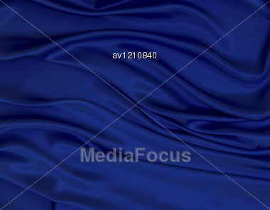 Close Up Of Blue Silk Textured Cloth Stock Photo