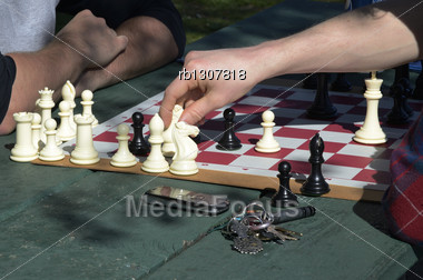 Close up chess game Stock Photo