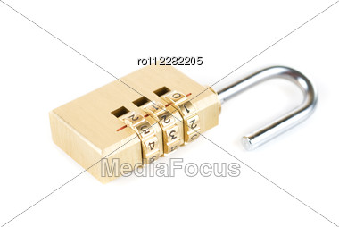 Close-up Combination Padlock Stock Photo