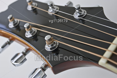 Stock Photo Close Up Electric Guitar Head Neck Image Vg1126179