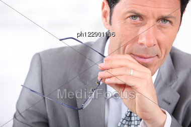 Close-up Of A Businessman Stock Photo