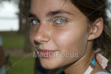 Close-up of a Teenage Girl Stock Photo