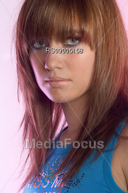 Close up of a young woman Stock Photo