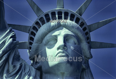 ae7100721e35d Stock Photo Close-up Of Statue Of Liberty Face - Image EB103542 ...
