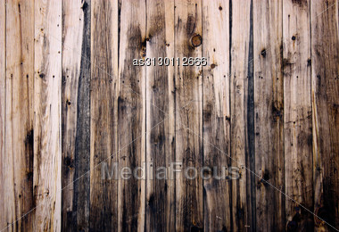 Close Up Of Wooden Fence Panels Stock Photo