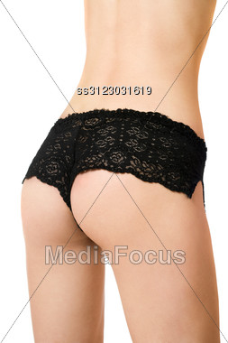 Close-up Of Perfect Female Rear In Panties. Stock Photo