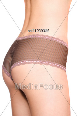 Close-up Of Perfect Female Rear In Panties Stock Photo