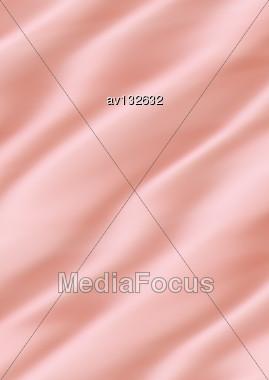 Close Up Of Pink Silk Textured Cloth Stock Photo