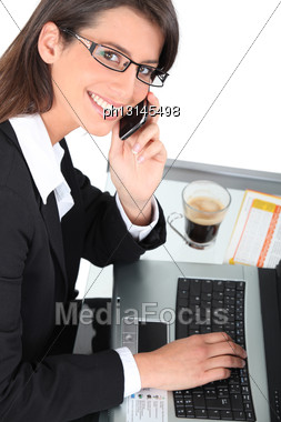 Close-up Of A Woman With Cup Of Coffee Stock Photo