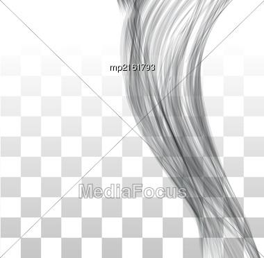 Closeup Of Long Human Hair. Vector Illustraion On Chekered Background Stock Photo