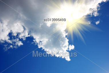 Cloud On Blue Sky In The Arrow Stock Photo