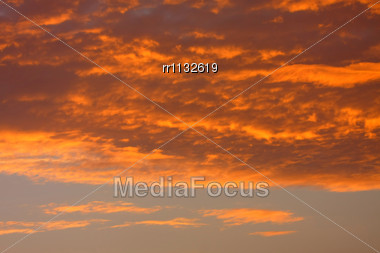 Clouds And Sky Image Collection - Taken In Different Periods From One Sight Stock Photo