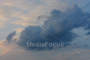 Clouds And Sky Image Collection - Taken In Different Periods From One Sight. Stock Photo