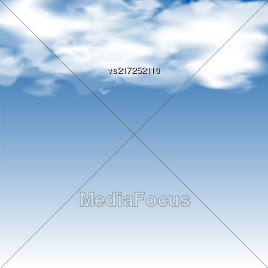 Cloudy Blurred Blue Sky. Clouds On Heaven Stock Photo