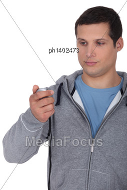 Coach Timing Stock Photo