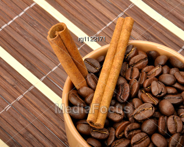 Coffe And Cinnamon Stock Photo