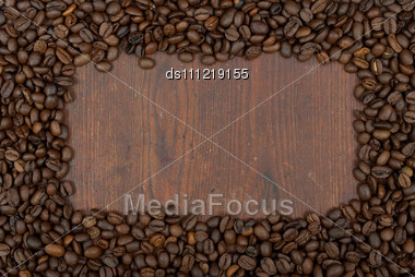 Coffee Beans Border Stock Photo