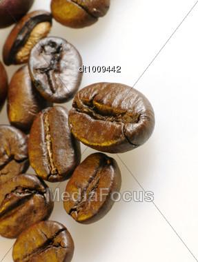 Coffee Beans Closeup Stock Photo