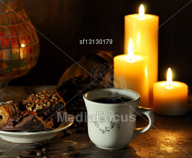 Coffee Composition Stock Photo