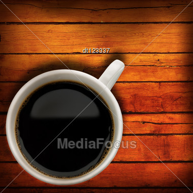 Coffee Time. Abstract Still-life With Cup Of Espresso Stock Photo