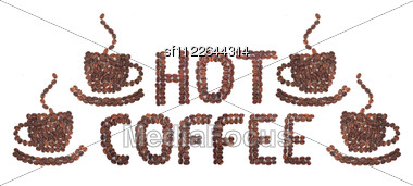 Coffee Word Made Of Beans Stock Photo