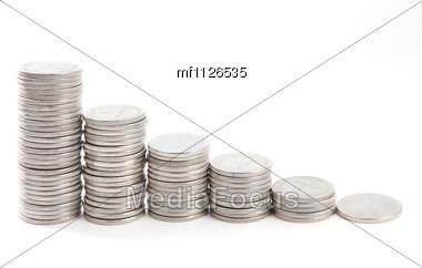 Coins Diagram Stock Photo