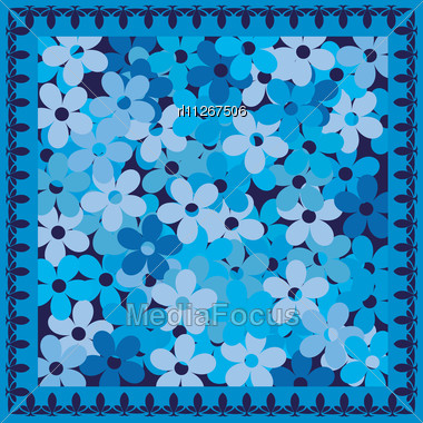 Cold Blue Flowers Card Stock Photo