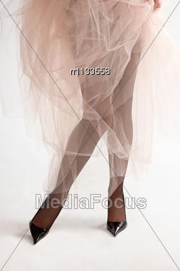 Collection Of Charming Woman Legs And Shoes. Stock Photo