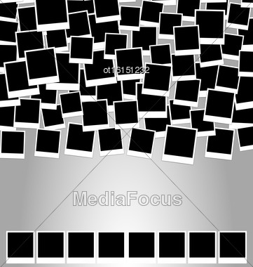 Collection Photo Frame For Design Scrapbook Space For Your Text - Vector Stock Photo