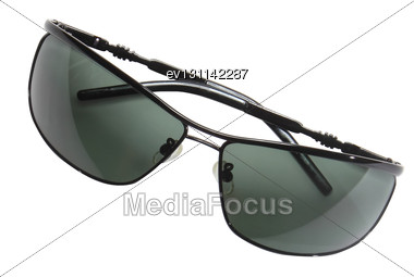 Collection (set) Of Black Men Sunglasses Stock Photo