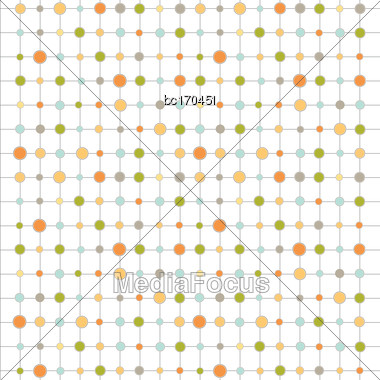 Color Background With Circles And Strips, Vector Format Stock Photo