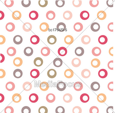 Color Background With Circles, Vector Format Stock Photo