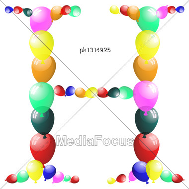 Color Balloon Alphabets Letter. EPS 10 Vector Illustration With Transparency Stock Photo