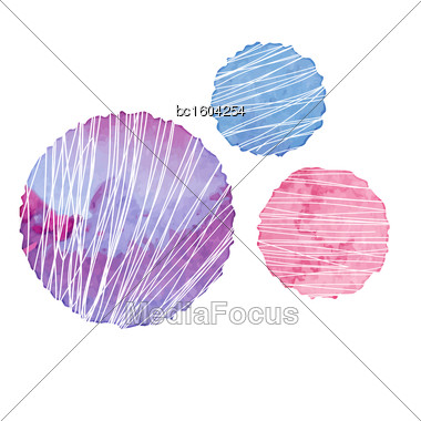 Color Textured Round Elements For Design. Vector Illustration Stock Photo