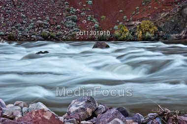 Colorado River In Grand Canyon National Park Stock Photo