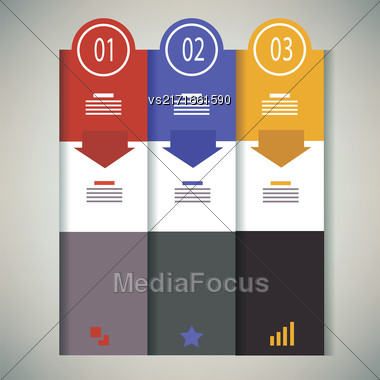 Colored Business Temtlate Isolated On Gray Background Stock Photo