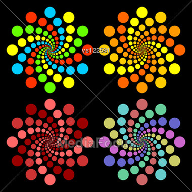 Colored Circles. Stock Photo