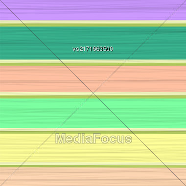 Colored Horizontal Natural Wood Planks. Colorful Boards Stock Photo
